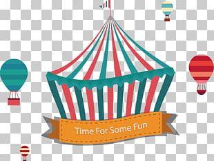 Creative Circus Tent And Hot Air Balloon Material PNG
