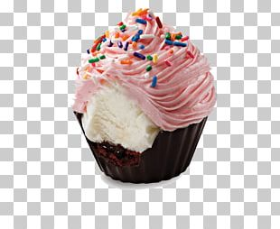 Ice Cream Cupcake Birthday Cake Frosting & Icing PNG