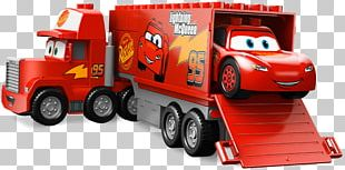 Lightning McQueen Mack Trucks Lego Duplo Toy Block PNG