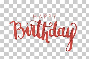Birthday Calligraphy Font PNG