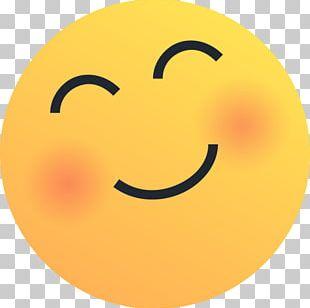 Blush Reaction Emoji PNG