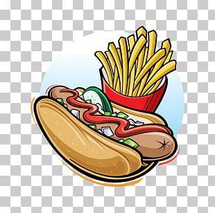 Fast Food French Fries Hot Dog Junk Food Hamburger PNG