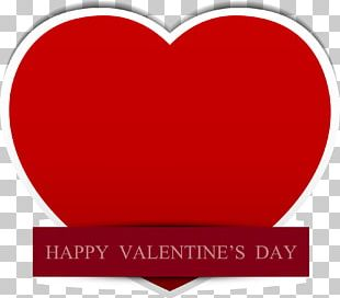 Red Valentines Day Heart PNG