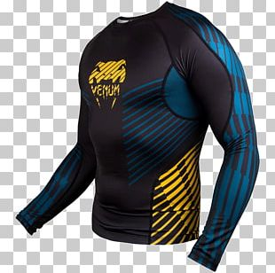 Long-sleeved T-shirt Venum Rash Guard Mixed Martial Arts PNG