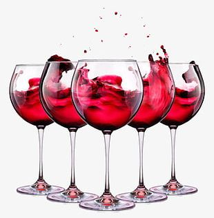 Grape Red Wine Glass PNG