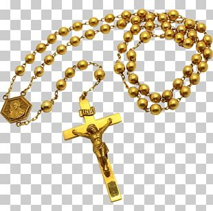 Rosary Crucifix Prayer Beads PNG