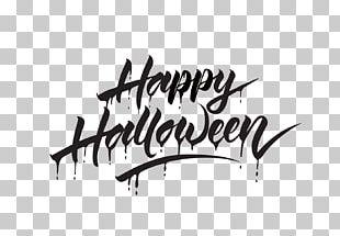 Halloween Calligraphy PNG