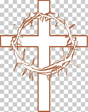Calvary Crown Of Thorns Cross And Crown Christian Cross PNG