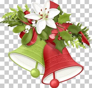 Santa Claus Candy Cane Christmas Jingle Bell PNG