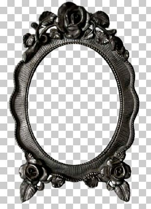 Silver Frames Oval PNG