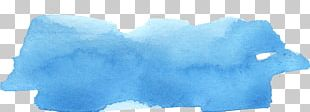 Sky Blue Light Blue Watercolor Painting PNG