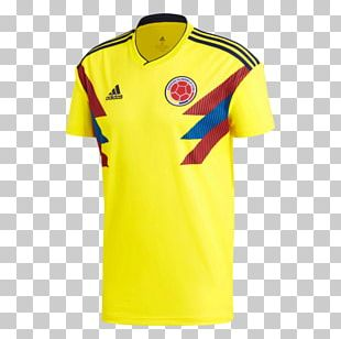 2018 FIFA World Cup Colombia National Football Team T-shirt Jersey Adidas PNG