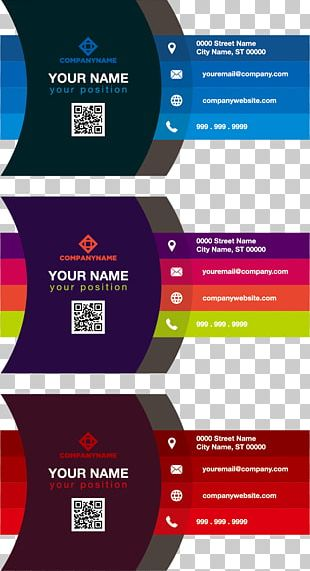Business Card Color Adobe Illustrator PNG