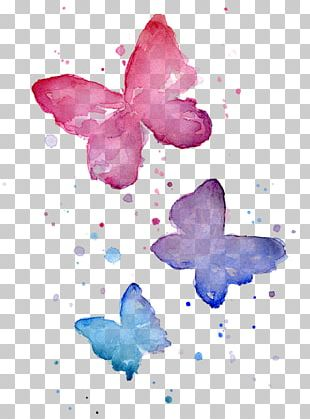 Butterfly Watercolor Painting Printmaking Work Of Art PNG