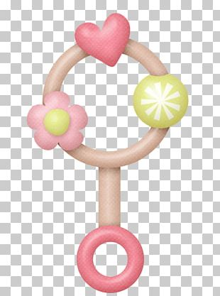 Infant Girl Baby Rattle PNG