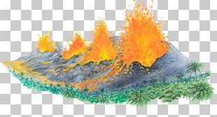 Volcano Rock Ejecta Illustration PNG