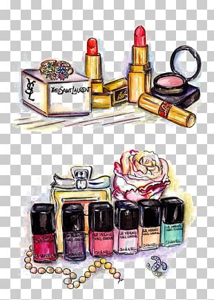 Cosmetics Drawing Watercolor Painting Lipstick Illustration PNG