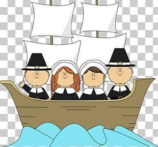 Mayflower II Pilgrims Thanksgiving PNG
