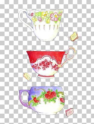 Teacup Coffee Drink Tea Party PNG