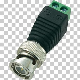 BNC Connector Electrical Connector RG-59 Coaxial Cable Adapter PNG