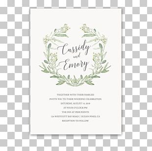 Wedding Invitation Paper Wreath Save The Date PNG