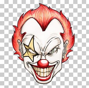 Evil Clown Cartoon Drawing PNG
