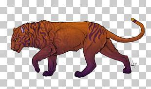 Tiger Character Wildlife Terrestrial Animal PNG