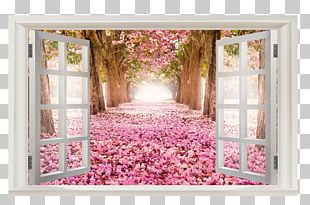 Paper Window Wall Decal PNG