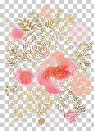 Flower Watercolor Painting Floral Design Pink PNG