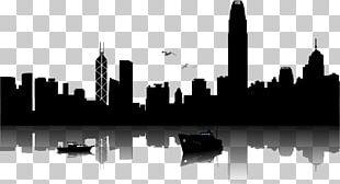 Hong Kong Skyline Silhouette Illustration PNG