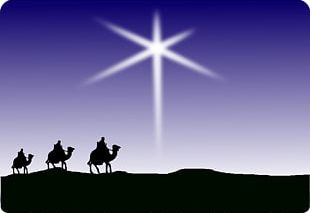Christmas Card Child Star Of Bethlehem Biblical Magi PNG