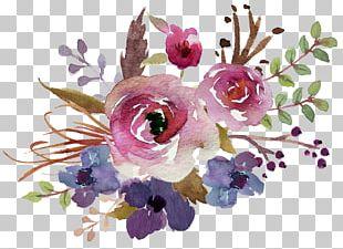 Flower Bouquet Watercolour Flowers Watercolor Painting Floral Design PNG