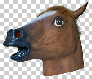 Horse Head Mask Latex Mask Costume PNG