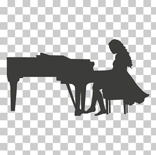 Silhouette Musician Piano Musical Instruments PNG