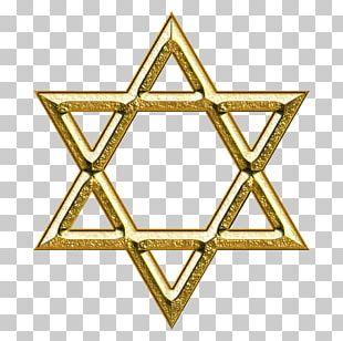 Star Of David Judaism Gold Symbol Illustration PNG