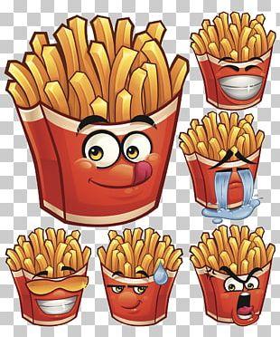 French Fries Hamburger Fast Food Cartoon PNG