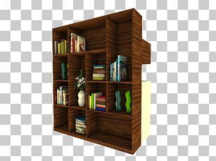 Shelf Bookcase Tableware Living Room PNG