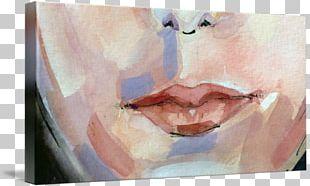Watercolor Painting Portrait Nose Close-up Cheek PNG