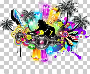 Nightclub Music Disco Poster PNG