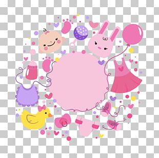 Baby Shower Party Birthday Greeting Card PNG