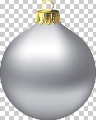 Silver Christmas Ornaments Open Christmas Day PNG