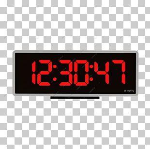 T. UNISALE I.K.E. Digital Clock Display Device Alarm Clocks PNG