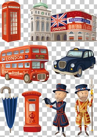 Cartoon London Illustration PNG