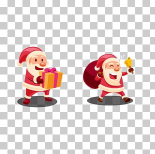Santa Claus Gift Christmas Ornament PNG