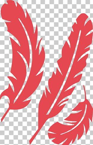 Bird Feather Art Stencil PNG