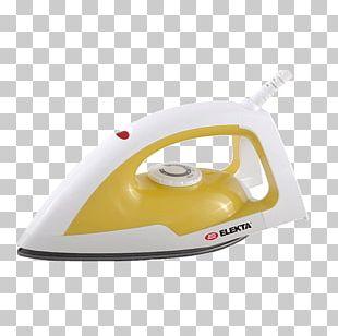 Yellow Clothes Iron Small Appliance Téflon White PNG