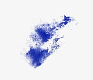 Blue Powder Explosion Splash Effect Material PNG