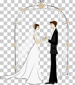 Wedding Invitation Marriage Drawing Bride PNG