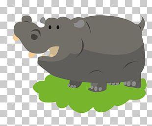 Hippopotamus Cartoon Drawing PNG