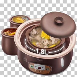 Congee Edible Birds Nest Simmering Clay Pot Cooking Stock Pot PNG
